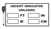 Vehicle Height Indicator - Metric & Imperial